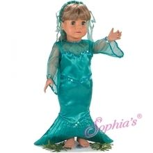 """Mermaid costume that fits 18"""" american girl dolls. Use special discount code PIN10"""