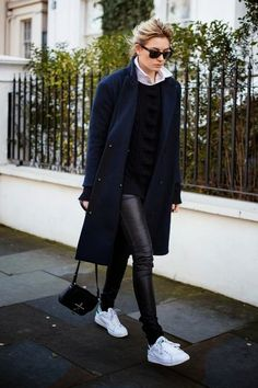 How to wear | The Navy Coat | Cuidar de tu belleza es facilisimo.com