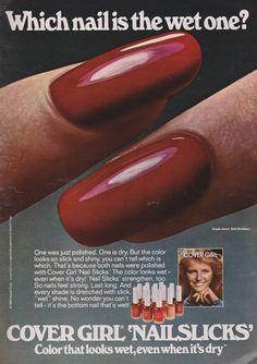 Retro Makeup, Vintage Makeup, Vintage Beauty, 1980s Makeup, Makeup Ads, 80s Nails, Girls Nails, Cheryl Tiegs, Vintage Nails