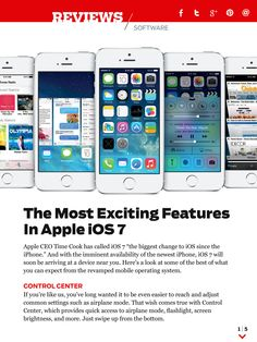 Apple's iOS 7 comes out today. What are its most exciting features? Find out in the October issue of PC Magazine Digital Edition.