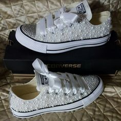 👟💎 Source by xoFeliciaT Bling Converse, White Converse, Custom Painted Shoes, Custom Shoes, Wedding Shoes, Wedding Stuff, Wedding Ideas, Cute Cartoon Pictures, Comfortable Shoes
