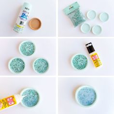 DIY CRUSHED GLASS COASTERS these easy 3 step crushed glass coasters are easy to make and beautiful with or without a drink. They are sure to be a home decor favorite! Broken Glass Crafts, Broken Glass Art, Shattered Glass, Sea Glass Art, Stained Glass Art, Diy Coasters, Glass Coasters, Diy Cristals, Smash Glass