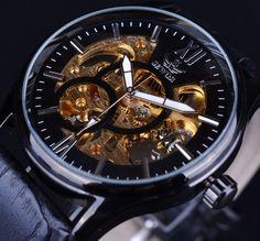 2810c47bb3b Black Golden Design Men s Watch Relógios Para Homens