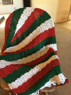 This Afghan will keep you warm on those long winter nights. Made with Red Heart holiday yarn. Crochet Christmas Decorations, Crochet Christmas Trees, Christmas Crochet Patterns, Holiday Crochet, Afghan Crochet Patterns, Crochet Afghans, Bobble Crochet, Free Crochet, Christmas Afghan
