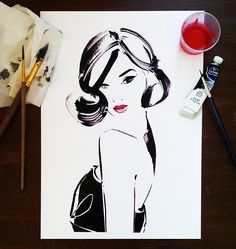 Gary Pepper Girl AKA Nicole Warne by fashion illustrator Kerrie Hess