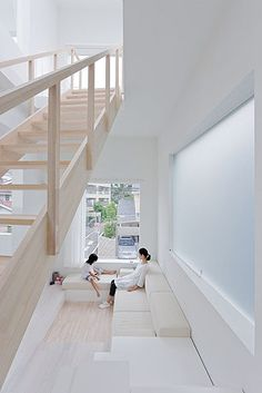 """House H - Tokyo - Japan by Sou Fujimoto Architects. Photography Iwan Baan  For more images of all-white interiors, follow Jill Jordan's board """"White Bites""""."""