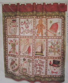 Blonder Home Linda Spivey Twelve Days Of A Country Christmas Shower Curtain