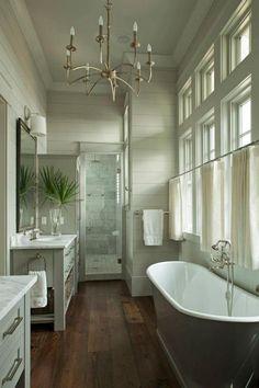 Good floor plan for narrow bathroom