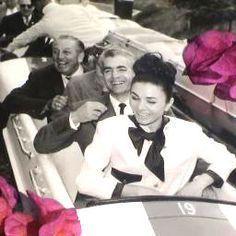 Mohammad Reza Shah and Farah Pahlavi greeted by Walt Disney in Disneyland, Anaheim, Southern California, 1962