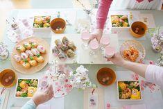 お家で桜色のお花見パーティー 簡単な飾り方アイデア