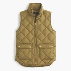 Excursion quilted down vest : puffers and vests | J.Crew | size small