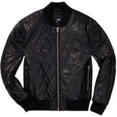 $250 ARITZIA Wilfred Free Luss Bomber Jacket Quilted Vegan Leather Black Sz XS