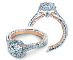 COUTURE-0427DR-TT {NEW} engagement ring from The Couture Collection of diamond engagement rings by Verragio