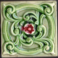 English majolica tile