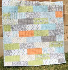 Subway Tiles Quilt Pattern on Craftsy Easy Quick Fun Baby Crib Quilt