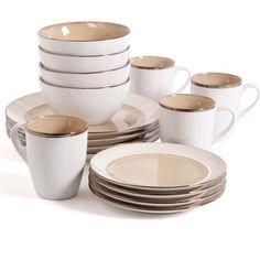 Gibson Home Studio Amberwood Dinnerware Set Taupe  sc 1 st  Pinterest & Rachael Ray Cucina Dinnerware 16-piece Stoneware Dinnerware Set ...