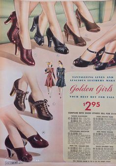 American Duchess: V164: Vintage Shoe Ads of 1939-1941