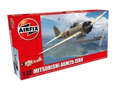 The Airfix Mitsubishi A6M2b Zero in 1/72 scale from the plastic aircraft model range accurately recreates the real life Japanese fighter aircraft flown during World War II.  This plastic aircraft kit requires paint and glue to complete.