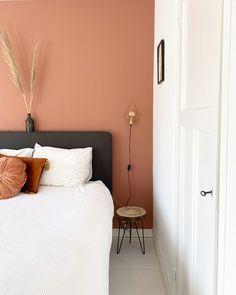 Room Ideas Bedroom, Home Bedroom, Bedroom Decor, Bedroom Wall Colors, Bedroom Colour Palette, Bedroom Orange, Guest Bedrooms, New Room, Cabana