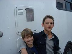 young Sam and Dean on set :) their expressions totally match old Sam and Dean. Good casting!