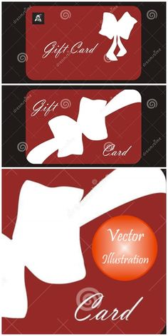 Two red gift cards stock vector. Illustration of different - 48385234 Graphic Design Illustration, Illustration Art, Illustrations, Red Background, Gift Cards, Card Stock, Holiday, Christmas, Bows