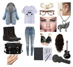 """Untitled #91"" by myfandomheart on Polyvore featuring Madden Girl, River Island, Forever 21, Ray-Ban, Poverty Flats, Maybelline and WigYouUp"