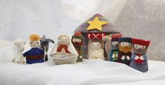 Nativity Set. Tumar Art Salon in Bishkek. Handmade items by Tumar Art Group, Kyrgyz Republic. Ecological materials.