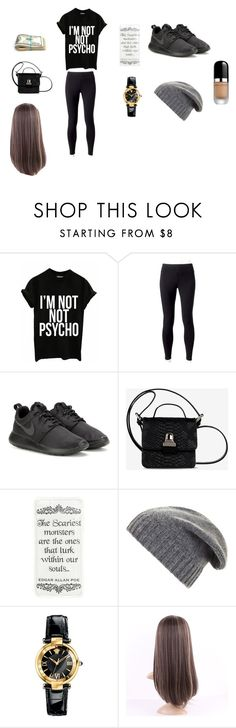 """""""Going To The Movie Theater"""" by jasmin198 ❤ liked on Polyvore featuring Jockey, NIKE, MM6 Maison Margiela, BCBGMAXAZRIA, Versace and Marc Jacobs"""