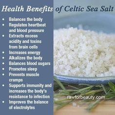 Benefits of Celtic sea salt