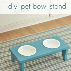 DIY Elevated Pet Bowl Stand