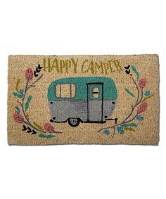 The TAG Happy Camper Coir Doormat is made from pure coir for an eco-friendly and long-lasting design. Decorated with a colorful camper van design on. Glamping, Tent Camping, Camping Gear, Backpacking, Camping Stuff, Camping Equipment, Camping Mattress, Camping Packing, Camping Trailers