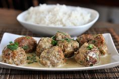Thai Green Curry Meatballs - Next time I'll use breadcrumbs instead of oatmeal because it looked weird. Flavor of the meatballs and the sauce was super delicious though! I think next time I'll use tbsp less of fish sauce.