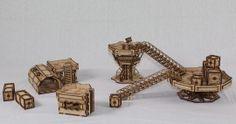 mdf laser cut 28mm model terrain kit for tabletop gaming