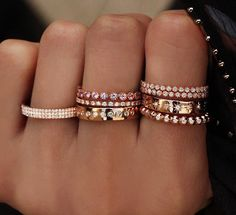 8 gorgeous gold and diamond stack rings by Luna Skye