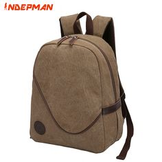 Solid Zipper Retro Canvas Backpack Men Preppy Style School Bag for Teenage Boys 14 inches Notebook Bag Kanken Coffee