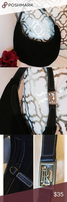 ❤️NWOT Ralph Lauren Suede Tote Bag ❤️ Authentic NWOT Beautiful Ralph Lauren Black Suede hobo bag with gold hardware 💯 % leather Ralph Lauren Bags Hobos