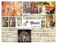 MUSIC digital collage sheet DOWNLOAD vintage images by Lunagirl (Craft Supplies & Tools, Scrapbooking Supplies, Scrapbooking Clip Art, vintage images, ephemera, art, scrapbooking, paper, cards, altered, antique, music, children, tags, collage, assemblage)