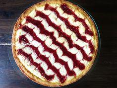 Raspberrybrunette: Linecký tvarohový koláč s malinovým džemom