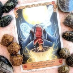 Flames of Wisdom - Crone card from the Conscious Spirit Oracle.  / Photo © www.VioletAura.com