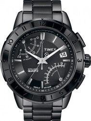 Timex Chronograph Black Stainless Steel Bracelet T2N500