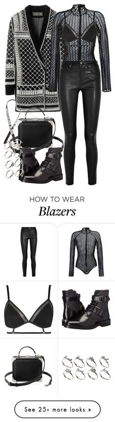 """""""Untitled #1767"""" by eleanorwearsthat on Polyvore featuring David Koma, Helmut Lang, Topshop, Burberry, H&M and ASOS"""