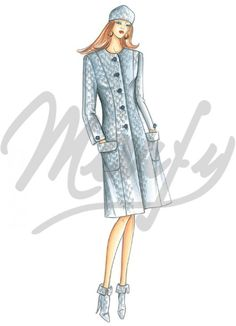 Our Patterns :: Marfy Collection 2014/2015 :: Autumn/Winter :: Sewing Pattern 3502 -