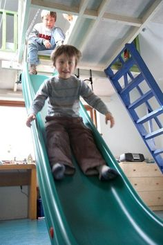 indoor slide (3 of 3) Paint Furniture, Furniture Decor, Stair Slide, Indoor Slides, Playroom, Home Goods, Kids Room, New Homes, Closets