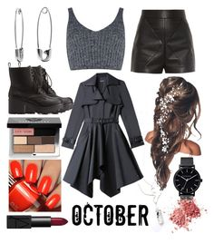 """""""Untitled #719"""" by randomstylegal101 ❤ liked on Polyvore featuring Banana Republic, J.O.A., Charlotte Russe, Bebe, Balenciaga, Bobbi Brown Cosmetics, NARS Cosmetics and The Horse"""
