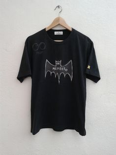Jean Michel Basquiat Bat Member One Eye Pop Art Vintage 90s Vibes Artistic T-Shirt Size XL by BubaGumpBudu on Etsy