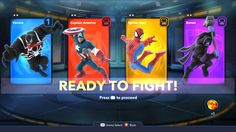 Ready Up screen for Disney Infinity Marvel Playset Cartoon Network Adventure Time, Adventure Time Anime, Game Card Design, Card Ui, Game 2d, Marvel Cartoons, Game Icon, Disney Infinity, Game Concept