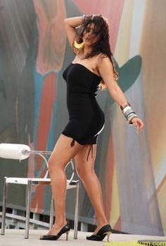 Namitha Hot In Black Dress (4)