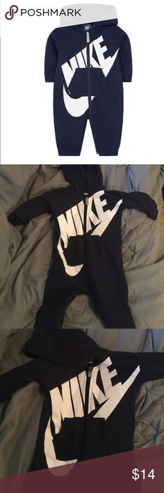 Nike jumpsuit Super comfy for your baby especially for winter time or just wear on a rainy day or windy day and super easy put on. Very good condition only worn twice. Nike Jackets & Coats
