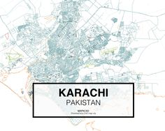 Karachi - Pakistan. Download CAD Map city in dwg ready to use in Autocad. www.mapacad.com