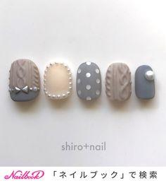 .⭐️ミンネでこちらのネイルチップ販売しています⭐️インスタ🆔shiro.nail ←インスタのプロフィールにリンクあり.#秋ネイル2018 #秋ネイル#ネイルチップ #ネイルチップ販売...|ネイルデザインを探すならネイル数No.1のネイルブック Korean Nail Art, Korean Nails, Cute Nail Art Designs, Acrylic Nail Designs, Matte Nails, Shellac Nails, Manicure, Holiday Nails, Christmas Nails